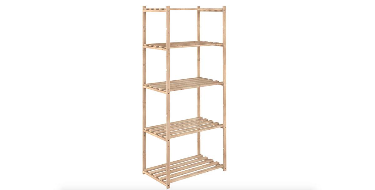 estanterias de madera leroy merlin